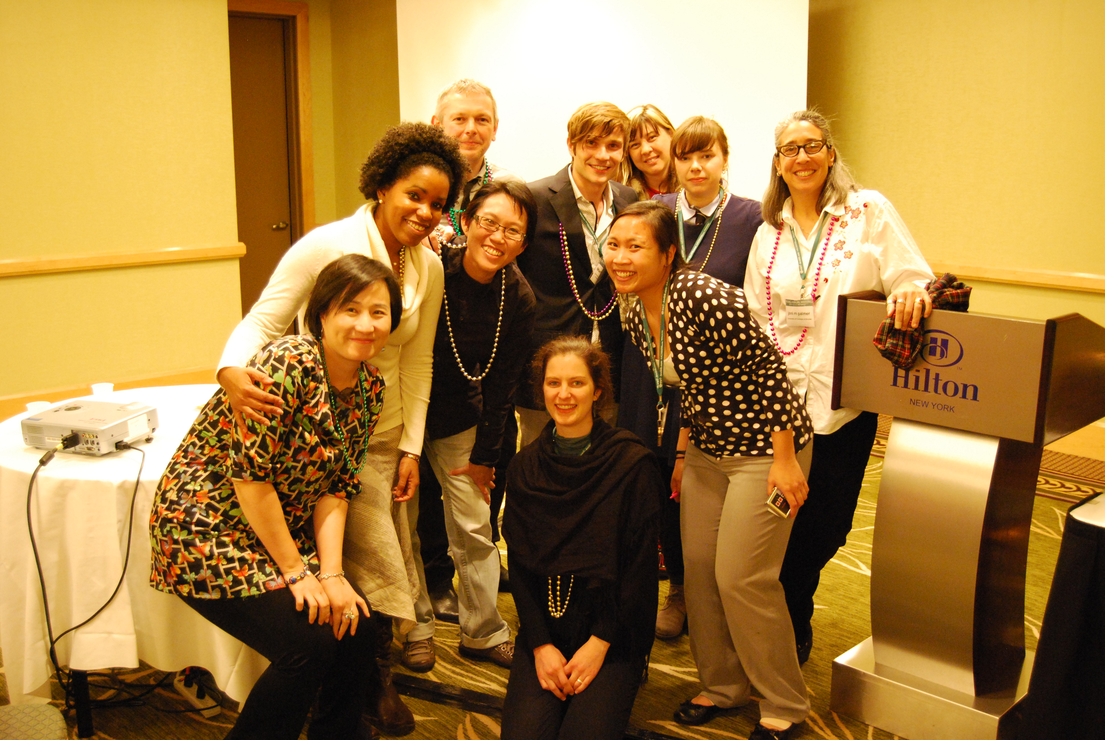 Contributors to Spacing the Arts, Annual Meeting of the Association of American Geographers, New York, 2012